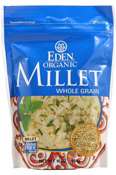 Eden Foods Organic Millet Whole Grain Gluten Free -- 16 oz