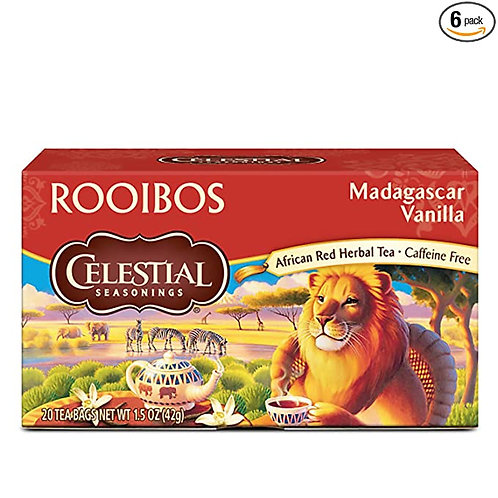 Celestial Seasonings Herbal Tea Caffeine Free madagascar vanilla 20 bags