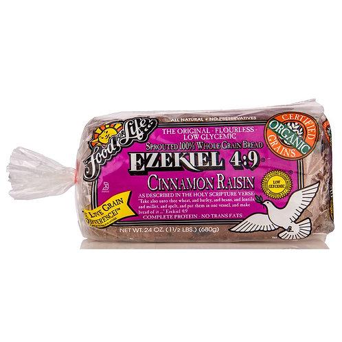Ezekiel Cinnamon Raisin Bread 24oz