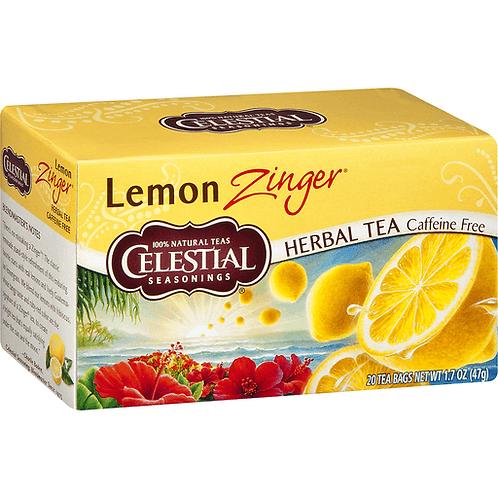 Celestial Seasonings Herbal Tea Caffeine Free Lemon Zinger 20bags