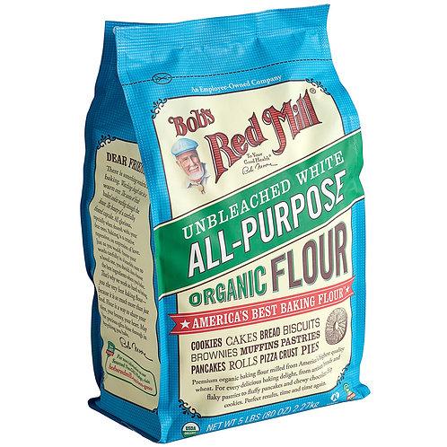 Bob's Red Mill 5 lb. Organic Unbleached All-Purpose Flour