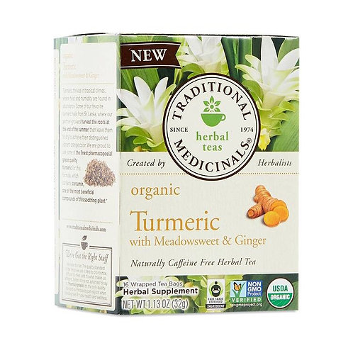 Traditional Medicinals Organic Tumeric with Meadowsweet & Ginger tea 16 tea bags
