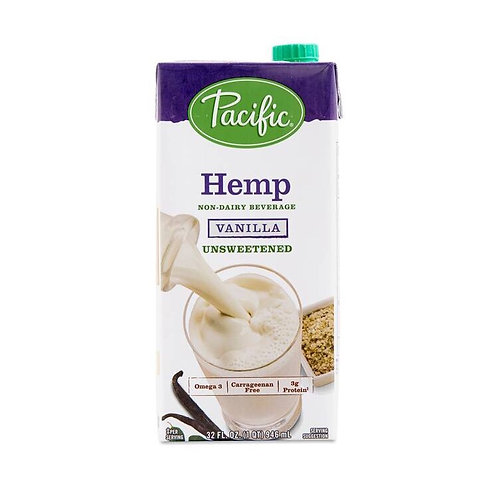 Pacific Foods Non-GMO Hemp Beverage- Unsweetened Vanilla 32oz