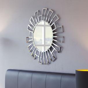 Calmar Round Silver Wall Mirror