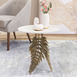 Neruda Marble Side Table Gold