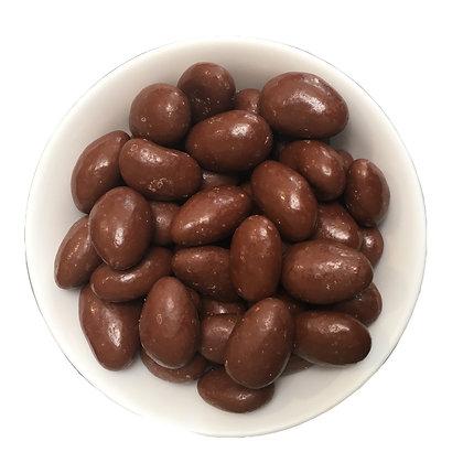 Amandes BIO enrobées de chocolat au lait - VRAC