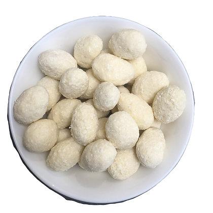 Amandes BIO enrobées de noix de coco et chocolat blanc
