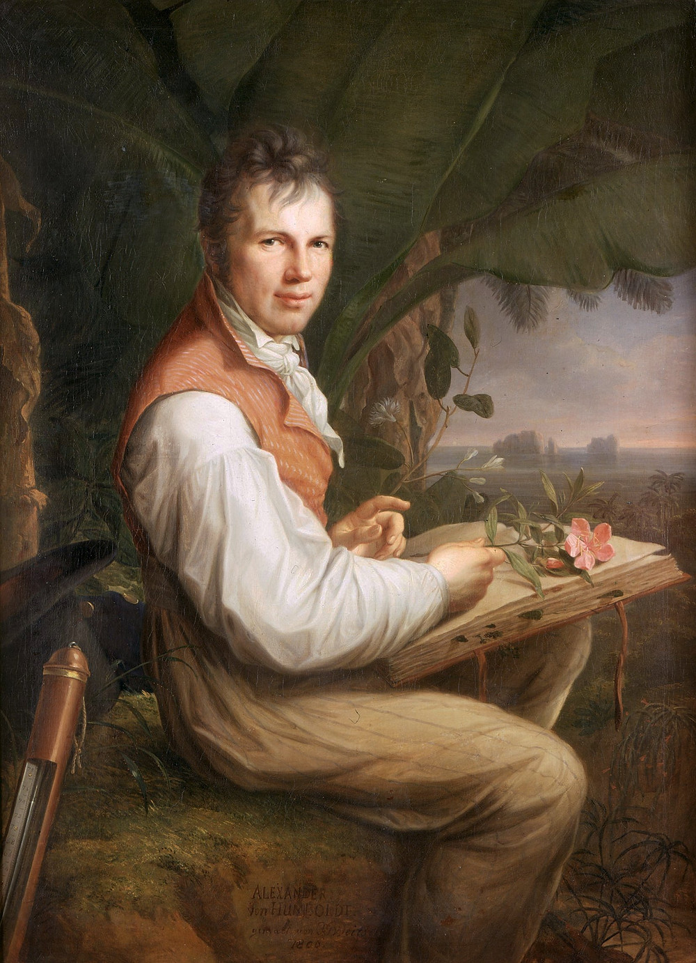 Humboldt in 1806, painting by Weitsch