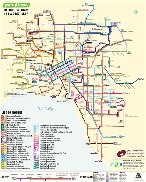 Adam Mattinson 2048 Tram Map