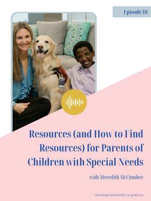 Episode 18: Resources for Parents of Children with Special Needs with Meredith McCumbee