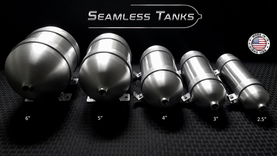 "3"" Seamless Tanks Aluminum"