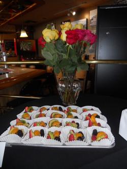 Fruit Pizza & Flowers