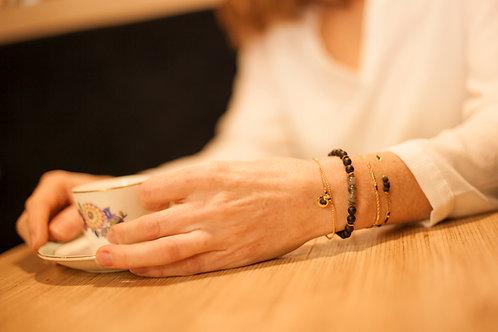 Bracelet double chaîne.