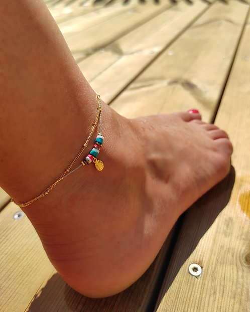 Bracelet de cheville Rainbow