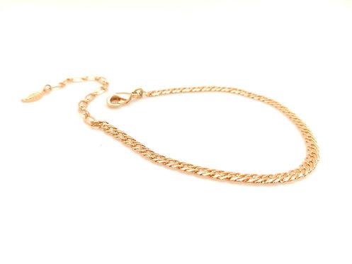 Bracelet maille doré à l'or fin.