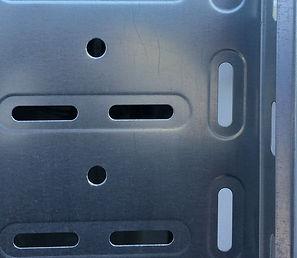 Специальная перфорация кабельного лотка с проштамповкой