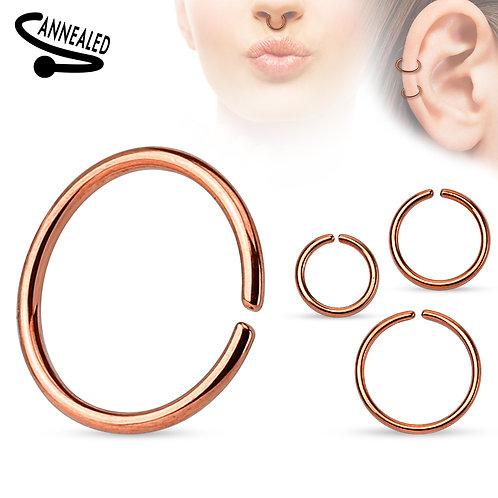 Rose Gold Titanium Nose Hoop 20g 5/16