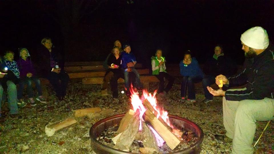Camp Pyoca bonfire