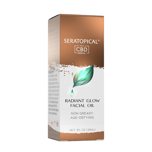 SERATOPICAL RADIANT GLOW FACIAL OIL WITH 300mg CBD