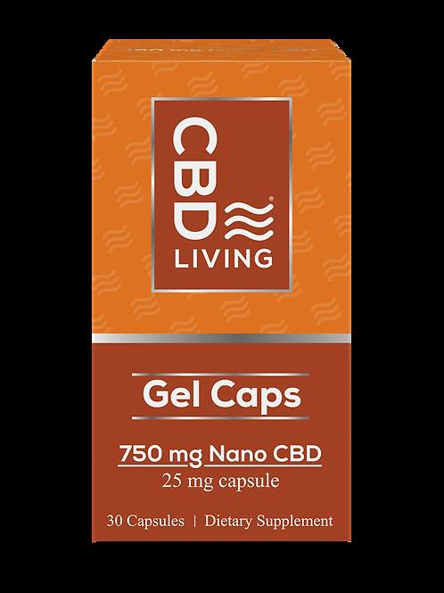 CBD Gel Capsules 750mg (25mg-30ct)