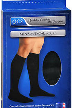SOCK MEN MLD 10-15 SS BLACK X/L