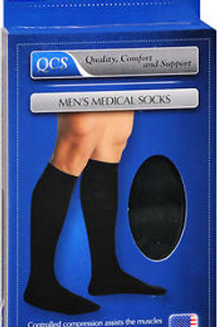 SOCK MEN MLD 10-15 SS BLACK M/L