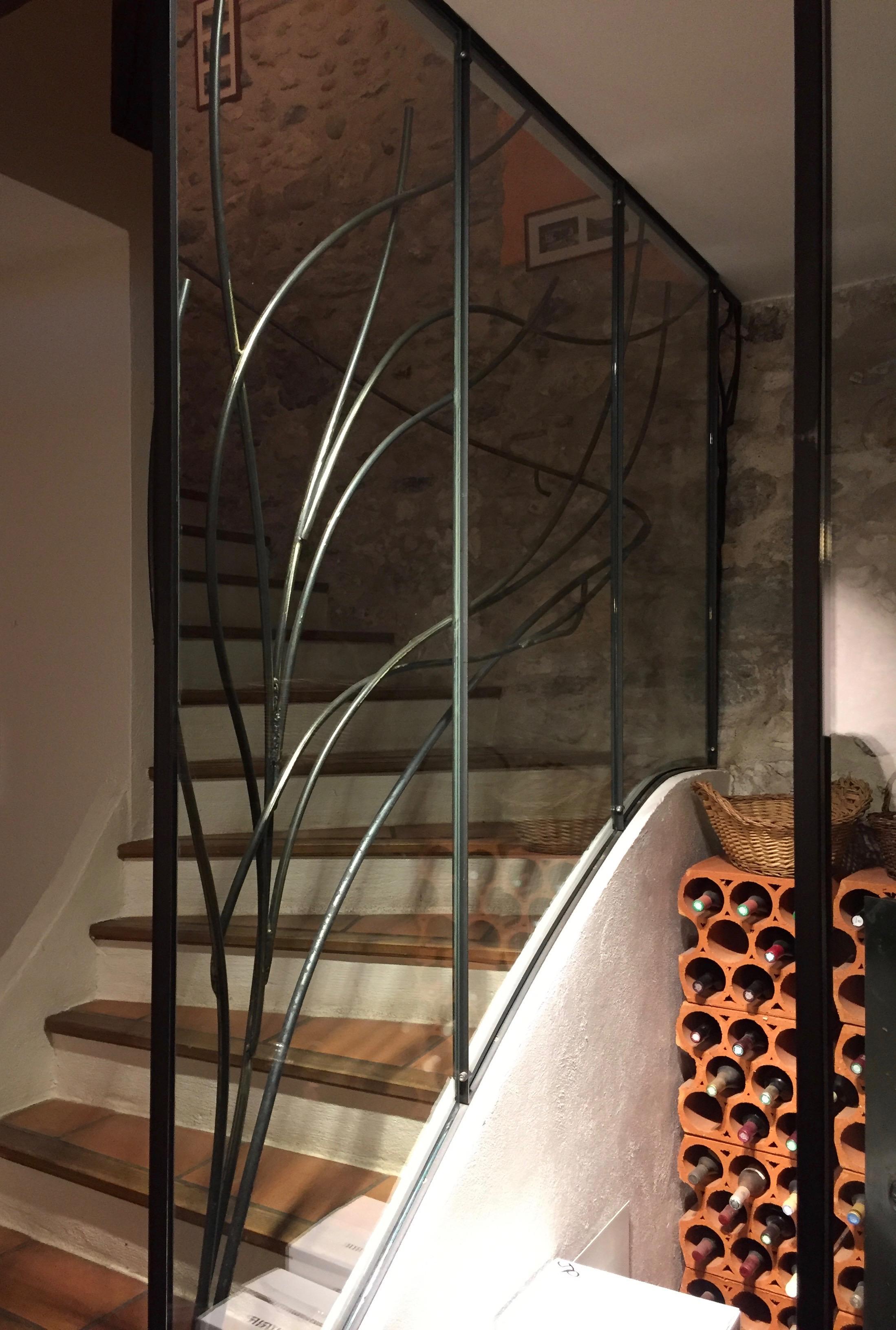 Cave à vin vitrée & Main courante