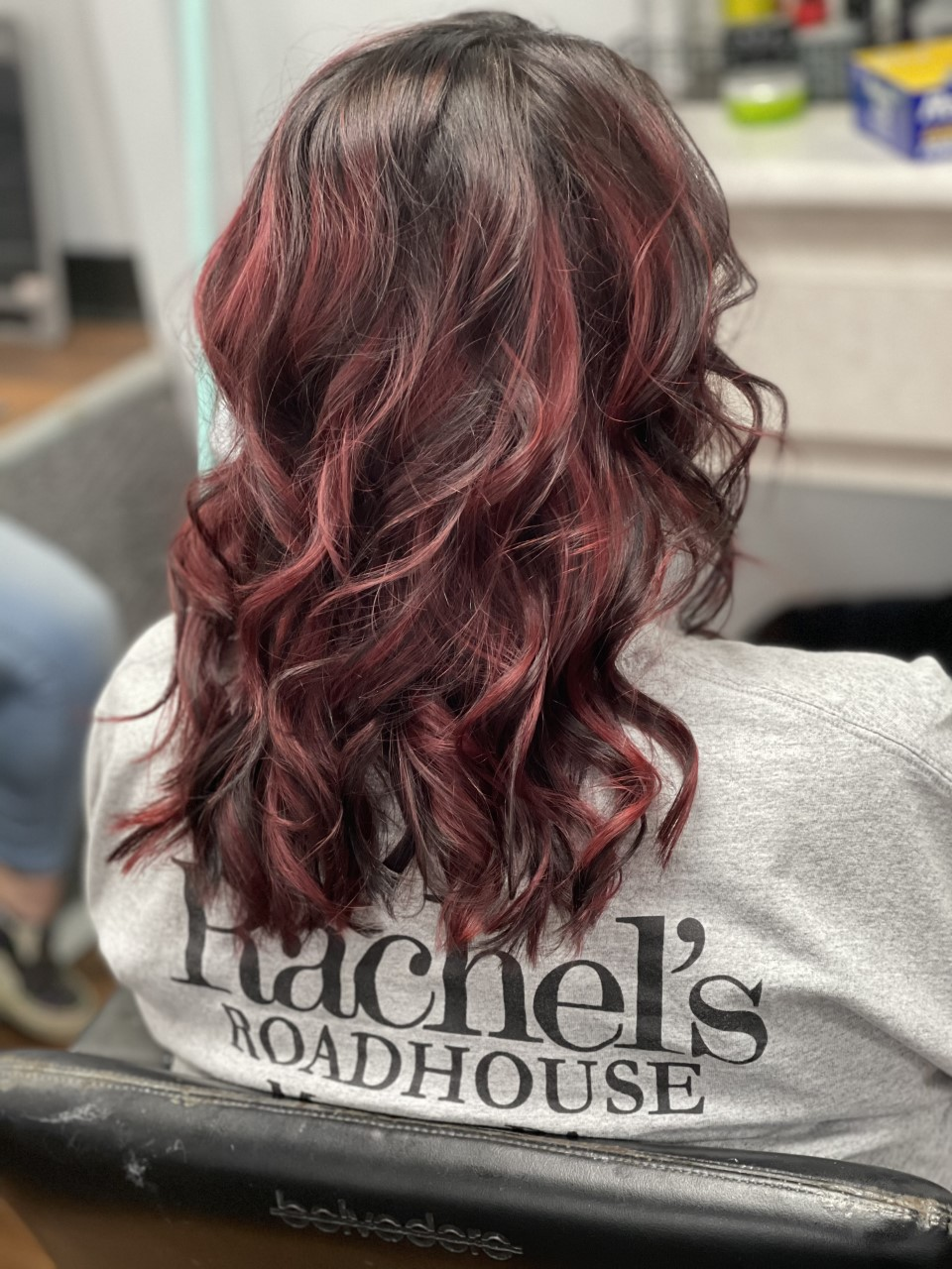Black and Red balayage (done by Kayla)