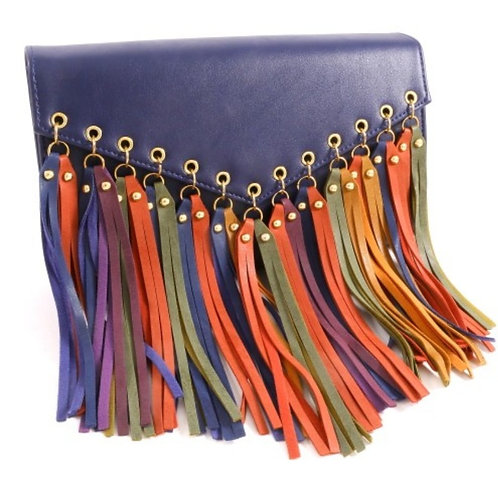 Frayed & Slayed Clutch