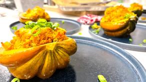Recipe: Bulgur Stuffed Acorn Squash (Vegan)