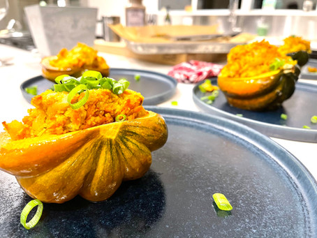 Recipe: Bulgur Stuffed Acorn Squash (Vegan)