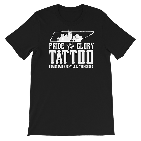 Pride and Glory Skyline Logo Tee