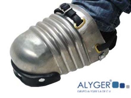 Puntera-Protector de aluminio con soporte de plástico para pie