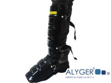 Protector de plástico para pierna y pie
