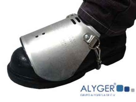 Protector de aluminio con ajuste para metatarso