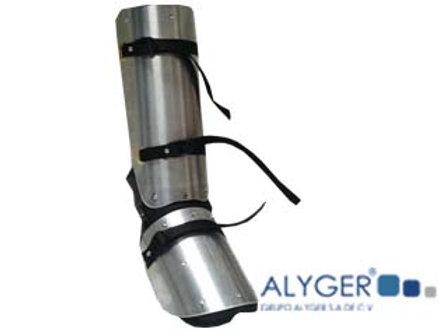 Protector de aluminio para pierna y pie