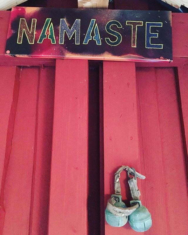 N A M A S T E -_Yoga painting welcoming