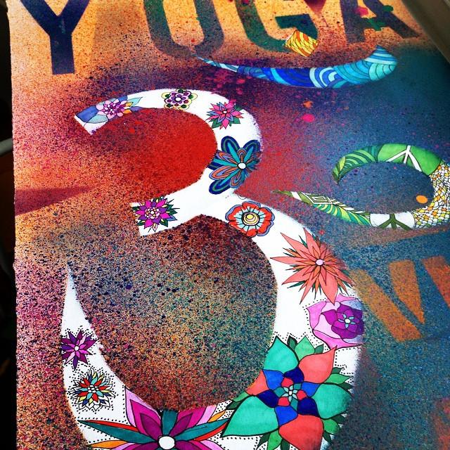 #yoga #art #namaste #om #oum #peace #ink