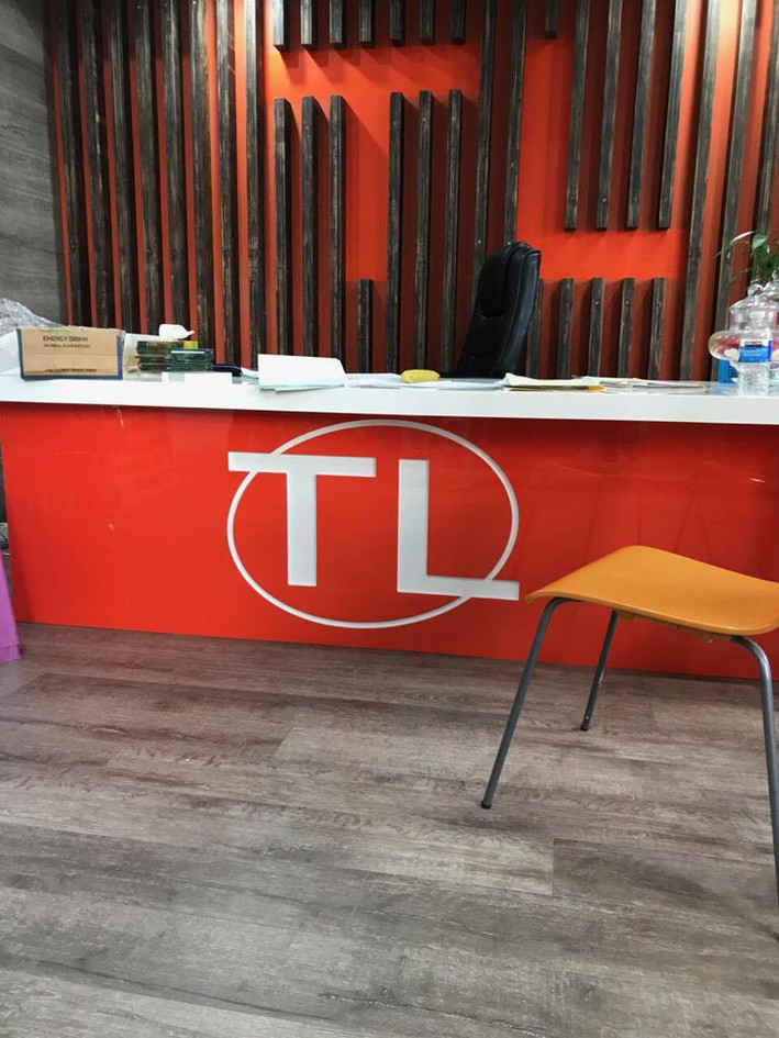 Full Gloss 2K interior P.U. for T.L Kitchens Showroom