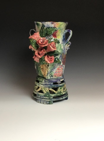 7 Sisters Rose Vase with Brickwork