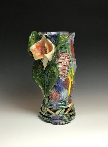 Calla Lily Vase with Brickwork