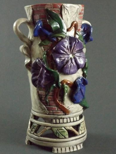 Morning Glory Vase with Brickwork