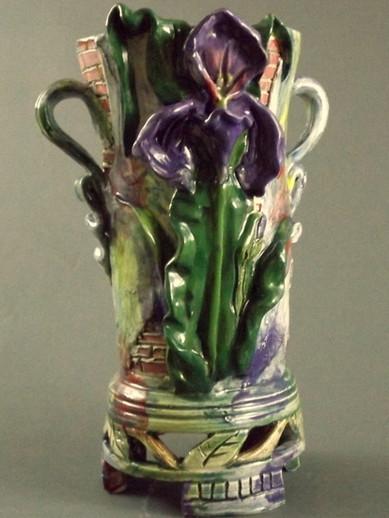 Iris Vase with Brickwork