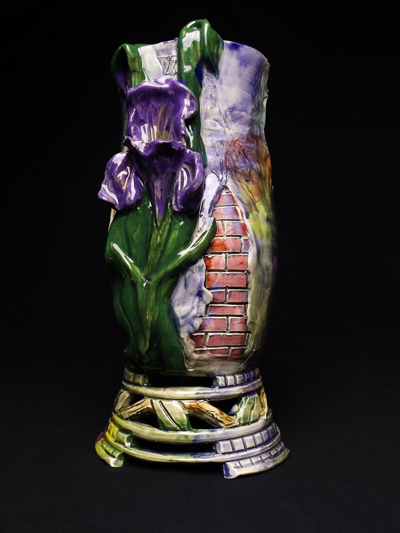 Iris Vase with Brickwork