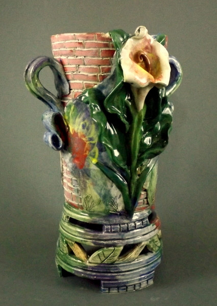 Calla Lily Vase with Brickwork
