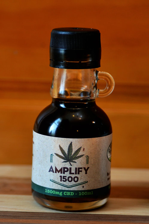 Amplify 1500: Full Spectrum Hemp Extract 1500mg CBD,  100ml bottle 15mg CBD/ml