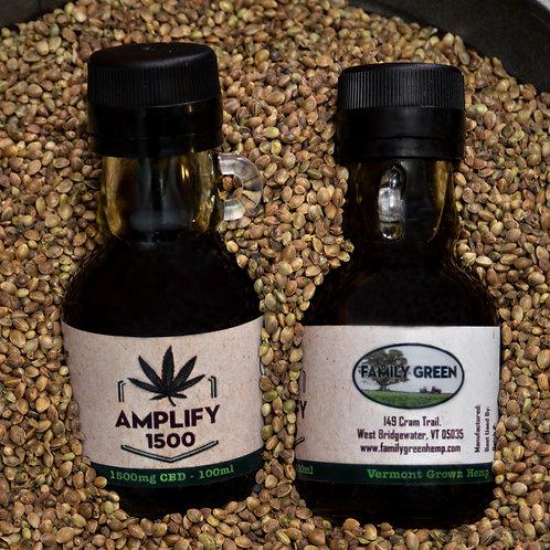 Amplify 1500: Full Spectrum Hemp Extract 1500mg CBD,   50ml bottle 30mg CBD/ml