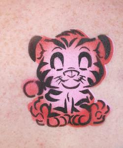 Airbrush Tattoo Tiger Cub