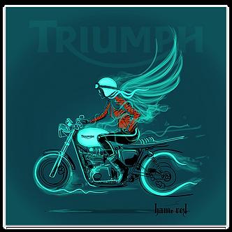 Lady Biker on Triumph