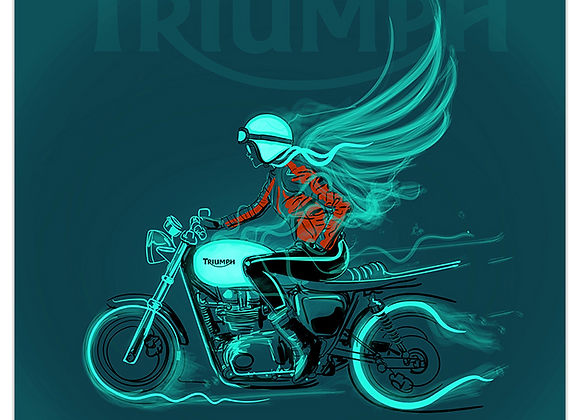 Lady Biker on Triumph